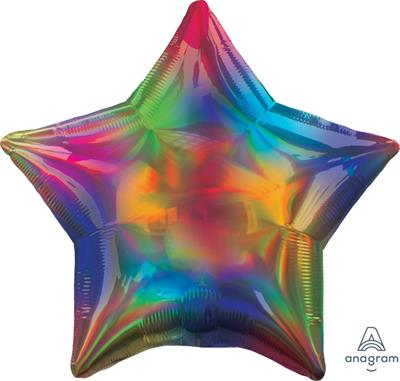 Star Iridescent Rainbow 45cm. Unpackaged