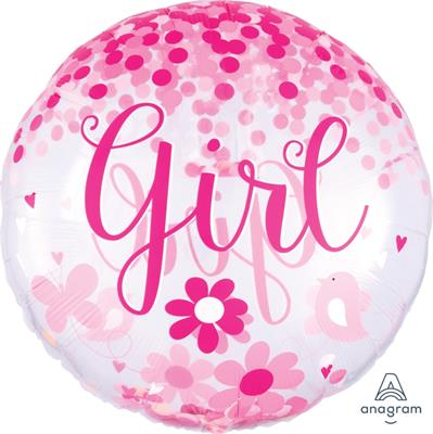 Confetti Balloon Baby Girl  (with confetti inside) 71cm
