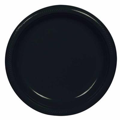 Plate Plastic 17.7cm Jet Black