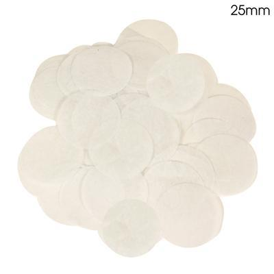 Oaktree 2.5cm Paper Confetti White