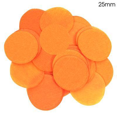 Oaktree 2.5cm Paper Confetti Orange