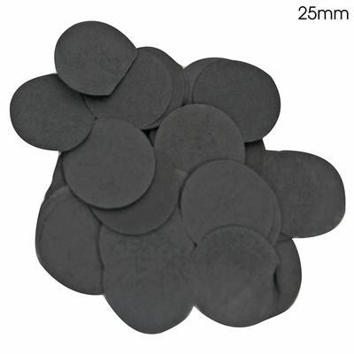 Oaktree 2.5cm Paper Confetti Black