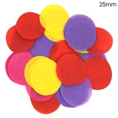 Oaktree 2.5cm Paper Confetti Mixed Colours
