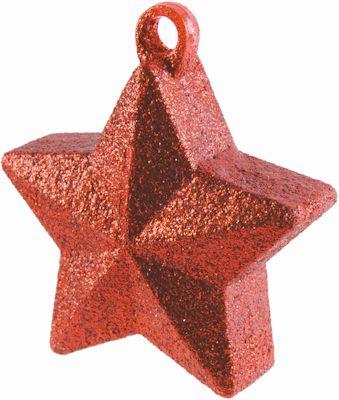 Glitter Star Weight Red