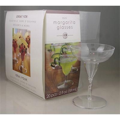 Mini Margarita Cocktail Glass Clear 2oz