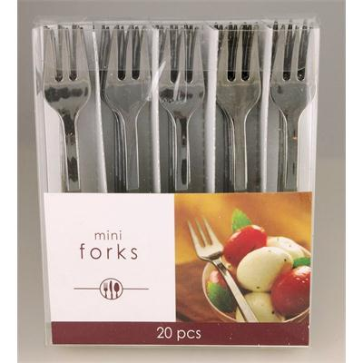 Mini Electroplated Fork Silver 10cm