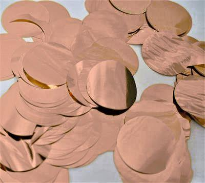 Confetti Metallic 3cm Circles Rose Gold 500 grams