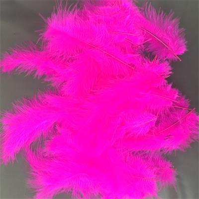 Fuschia feather decoration for Bubble and latex balloon