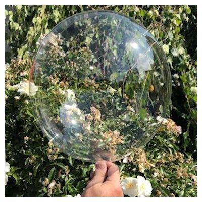 "Bobo Balloon Balls Crystal Clear 10"" 22.4cm."