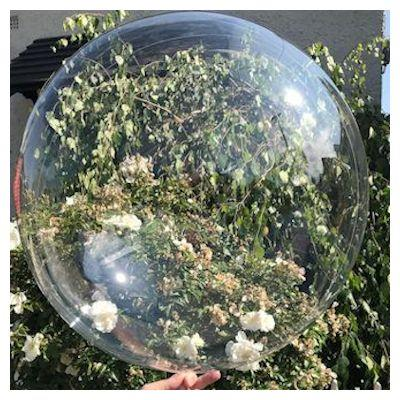 "Bobo Balloon Balls Crystal Clear 36"" 91cm"