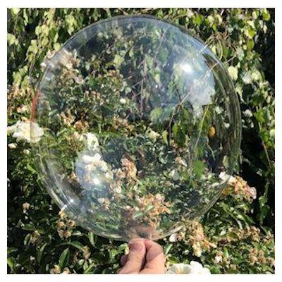 "Bobo Balloon Balls Crystal Clear 18"" 45cm. Pack of 2"