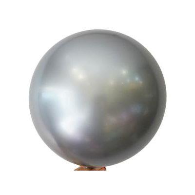 """Bobo Balloon Balls Silver 18"""" 45cm"""
