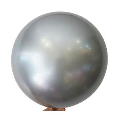 """Bobo Balloon Balls Silver 22"""" 55.8"""