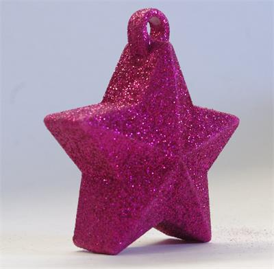 Glitter Star Weight 150g Hot Pink