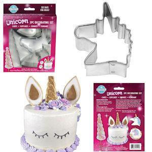 Unicorn  5 Piece Cake Decorating Kit