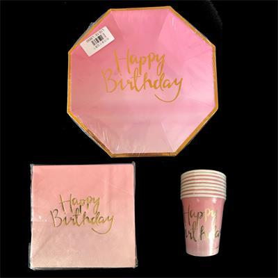 Happy Birthday Pink Set.