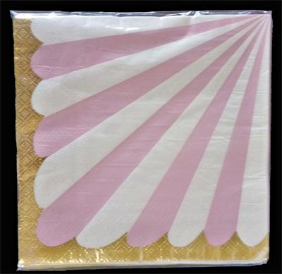 Candy Stripe Pink Napkin 33cm. Pack of 10