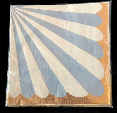 Candy Stripe Blue Napkin 33cm. Pack of 10