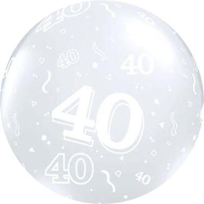 40 Around 90cm Latex Diamond Clear Custom print