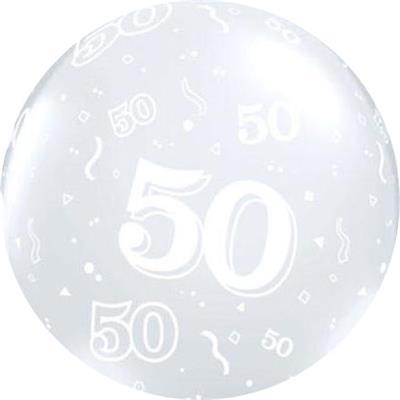 50 Around 90cm Latex Diamond Clear Custom print
