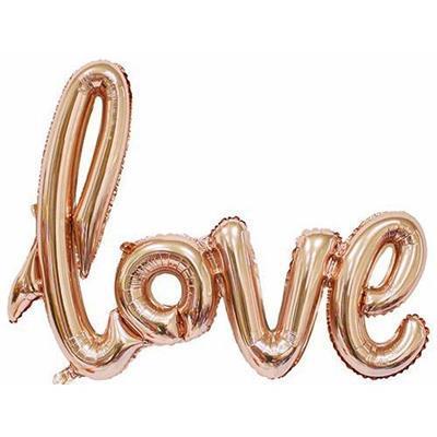Love Script Rose Gold 100cm