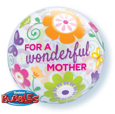 For a Wonderful Mother Single Bubble