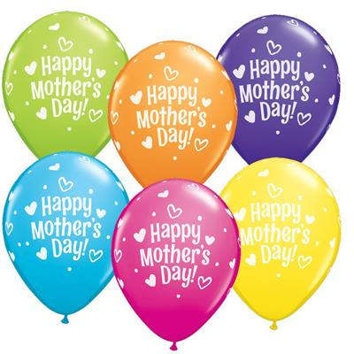 Mothers Day Hearts & Dots Tropical  Asst 28cm