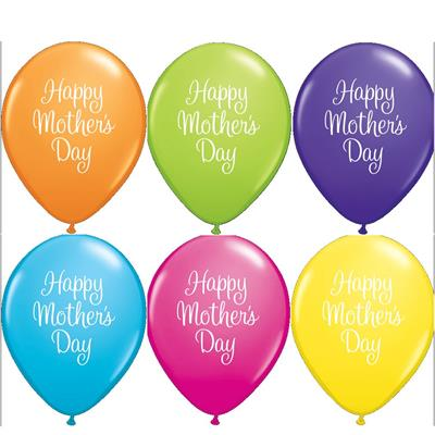 Qualatex Balloons Mothers Day Classy Script Tropical Asst  Double sided 28cm