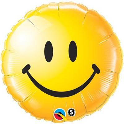 Qualatex Balloons Smiley Face Yellow 45cm