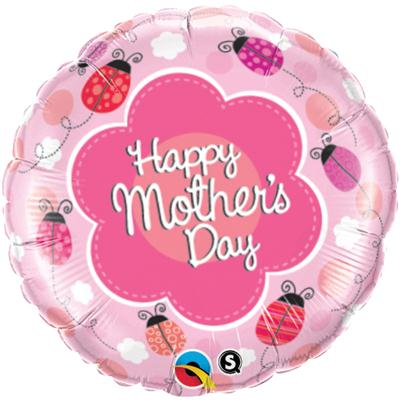 Qualatex Balloons Mothers Day Ladybugs Foil 45cm