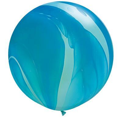 Qualatex Balloons Blue Rainbow Super Agate 76cm