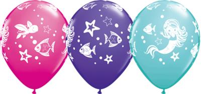 Qualatex Balloons Merry Mermaid and Freinds 28cm