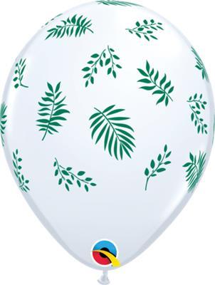 Qualatex Balloons Tropical Greenery White 28cm