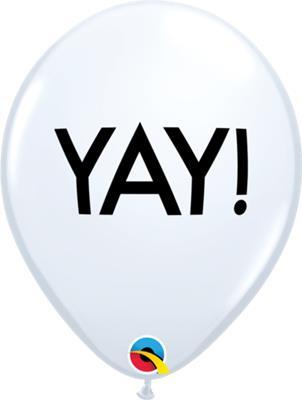 Qualatex Balloons Simply Yay! White 28cm