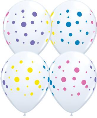 Qualatex Balloons Colorful Dots 28cm