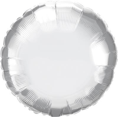 Qualatex Round Foil Chrome Silver 45cm Unpackaged