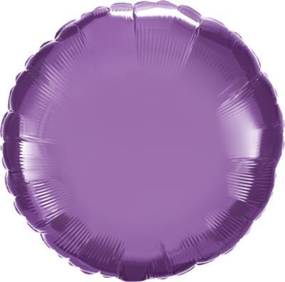 Qualatex Round Foil Chrome Purple 45cm Unpackaged
