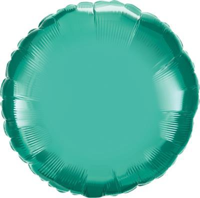 Qualatex Round Foil Chrome Green 45cm Unpackaged