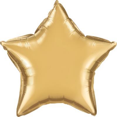 Qualatex Star Foil Chrome Gold 45cm Unpackaged