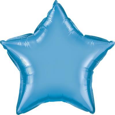 Qualatex Star Foil Chrome Blue 45cm Unpackaged