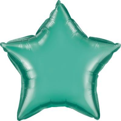 Qualatex Star Foil Chrome Green 45cm Unpackaged
