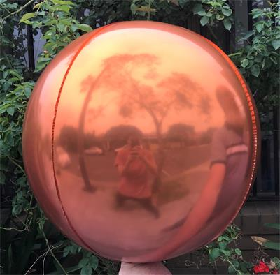Sphere 60cm Orange and Pink Ombre Unpackaged