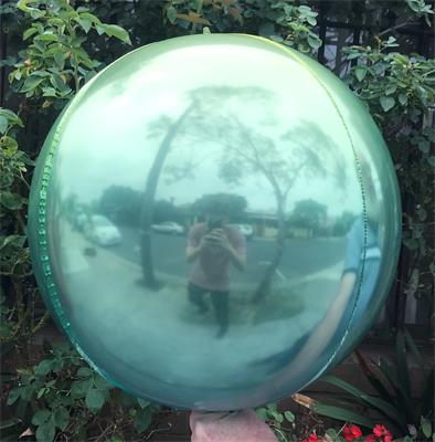 Sphere 60cm Pink and Blue Ombre Unpackaged
