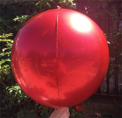 Prismatic Sphere 60cm Red Unpackaged