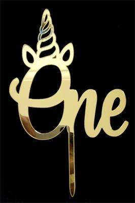 ONE cake topper gold