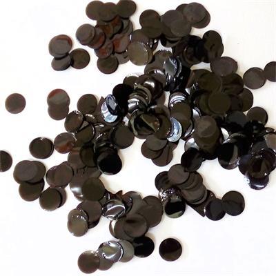 Confetti Metallic 1cm circles Black 500 grams
