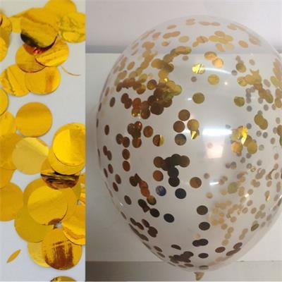 Confetti Metallic 1cm circles Gold 500 grams