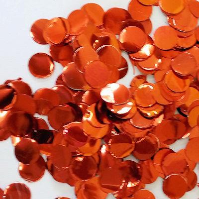 Confetti Metallic 1cm circles Red 500 grams