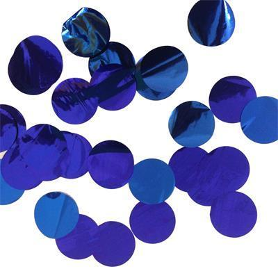 Confetti Metallic 3cm circles Blue 500 grams