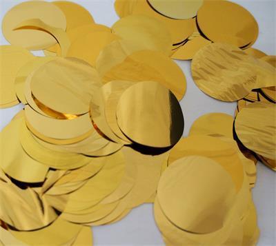 Confetti Metallic 3cm circles Gold 500 grams
